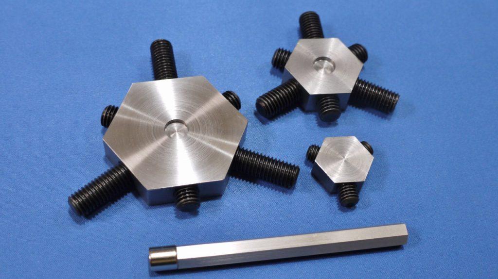 旋盤生爪成型冶具|六角生爪カメチャック用カメフィット